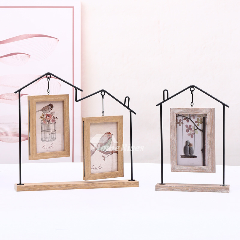 4X6 Picture Frames Personalized Double Iron Wood Glass Cheap
