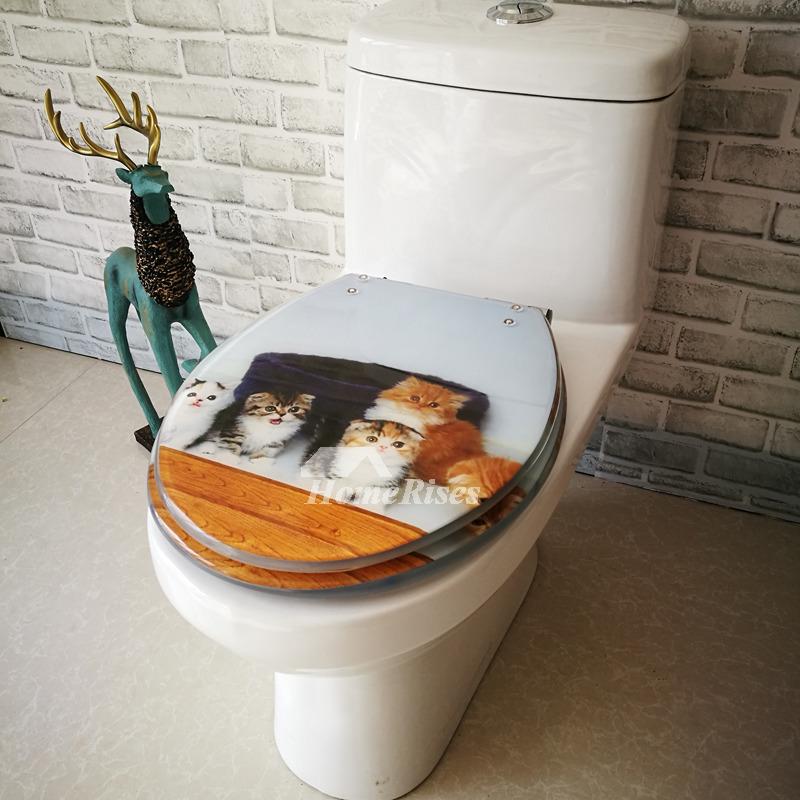 Universal Animal Wallpaper Cute Fancy Animal Decorative Soft Close Elongated Resin