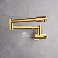 Industrial Kitchen Faucet Wall Mount Silver/Gold Brushed ...