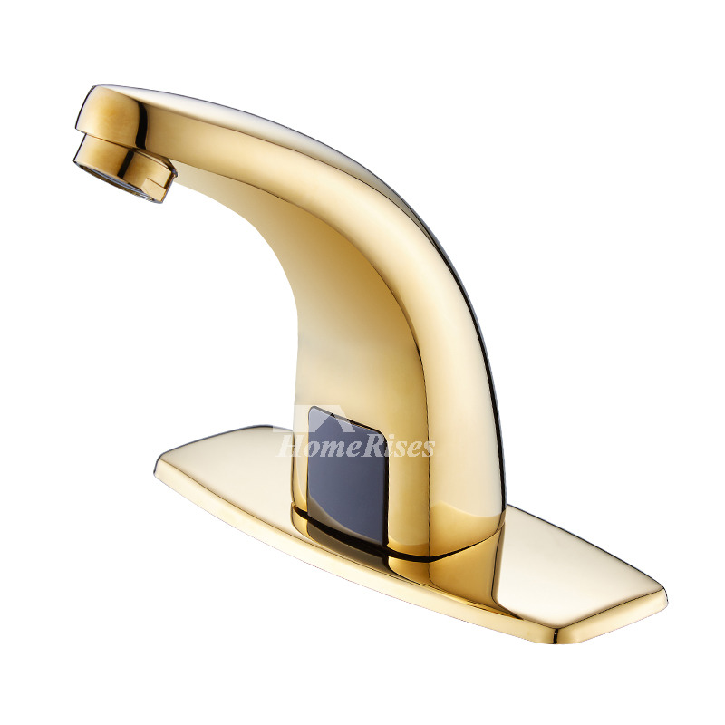 gold finish bathroom faucets polished brass battery touchless best