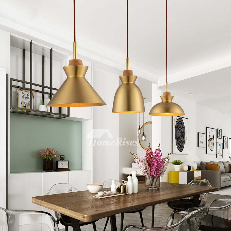 Brass Pendant Light Hanging For Living Room Fixture Luxury
