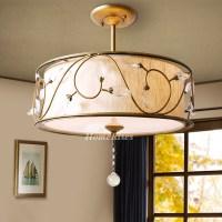 Rustic Ceiling Light Fixtures Semi Flush Drum Bedroom ...