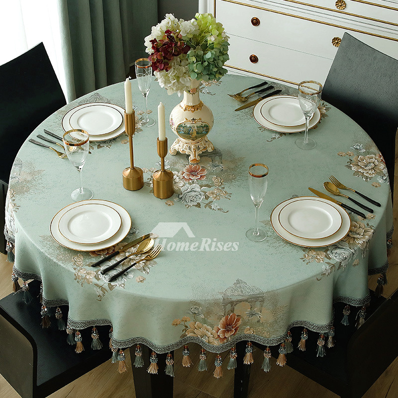 Tablecloths For Sale Blue White 70 Inch Round Polyester