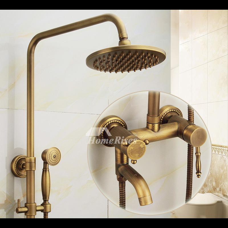 antique brass bathroom faucet brushed gold single handle vintage