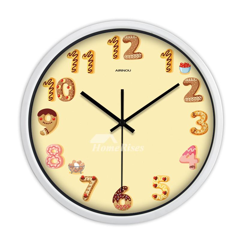 Animal Bedroom Wallpaper Cartoon Kids Wall Clock Quiet Quartz Bedroom Animal