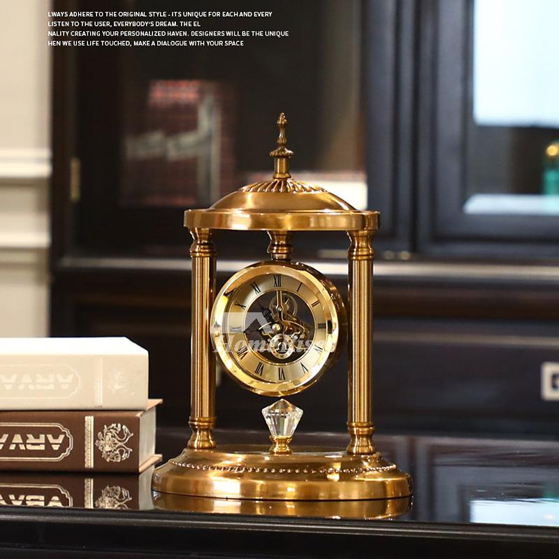 Luxury Desk Clock Living Room Retro Bedroom Pendulum Table