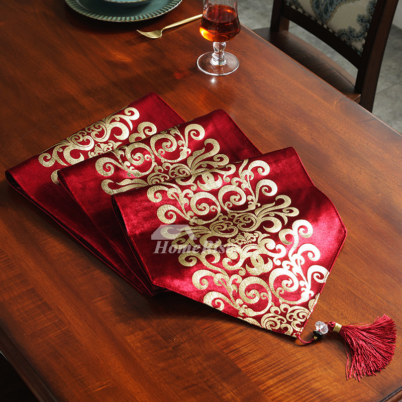 Velvet Hot Stamping Modern Cheap Holiday 72Inch Table