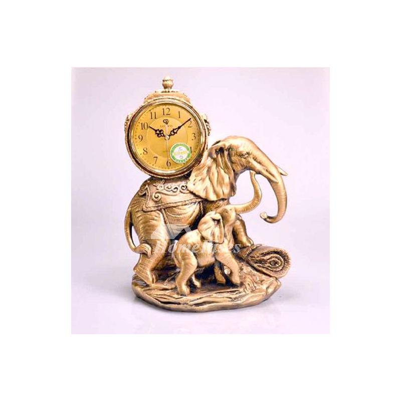 Elephant Living Room Quartz Ornaments Table Clock Desktop