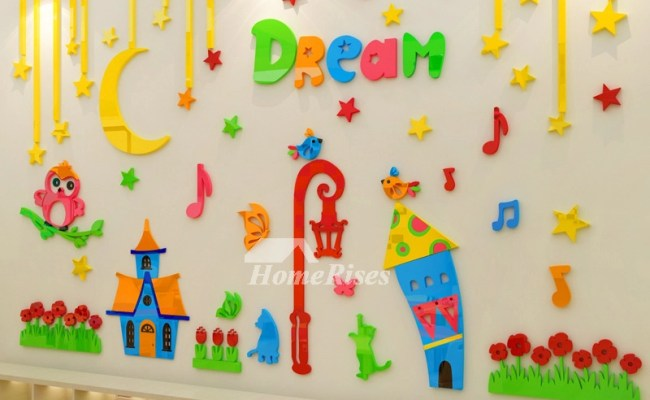 Wall Art Stickers Decor 3d Acrylic Cartoon Vinyl Nursery