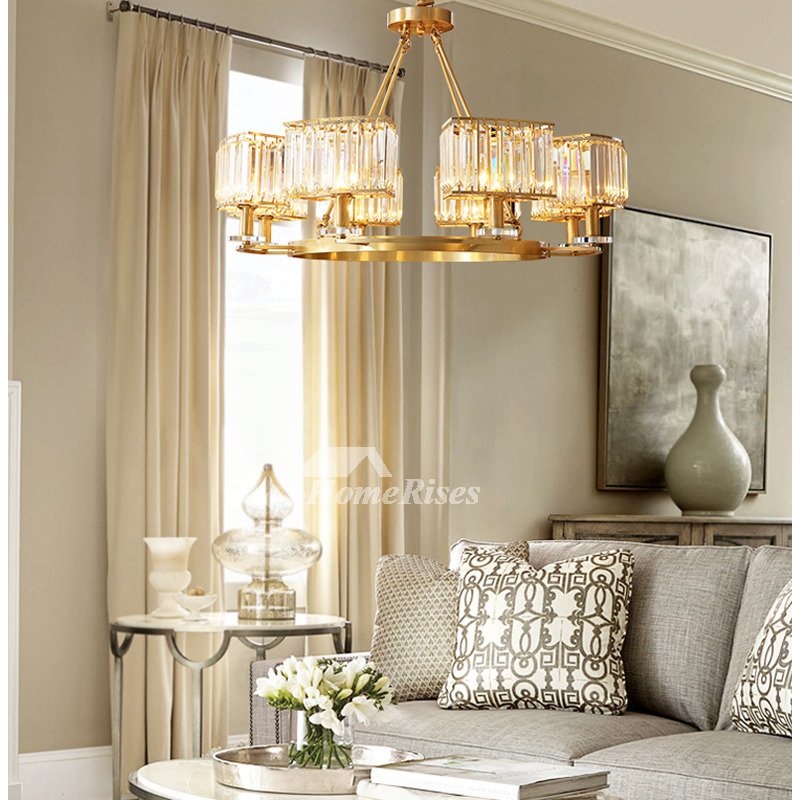 adjustable chain chandeliers contemporary crystal long modern dining room solid brass 5 6 8 lighting