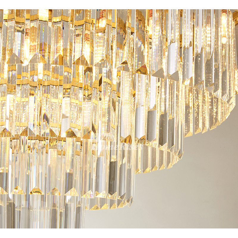 crystal pendant lights classic luxury large bar counter commercial adjustable hanging chain living room