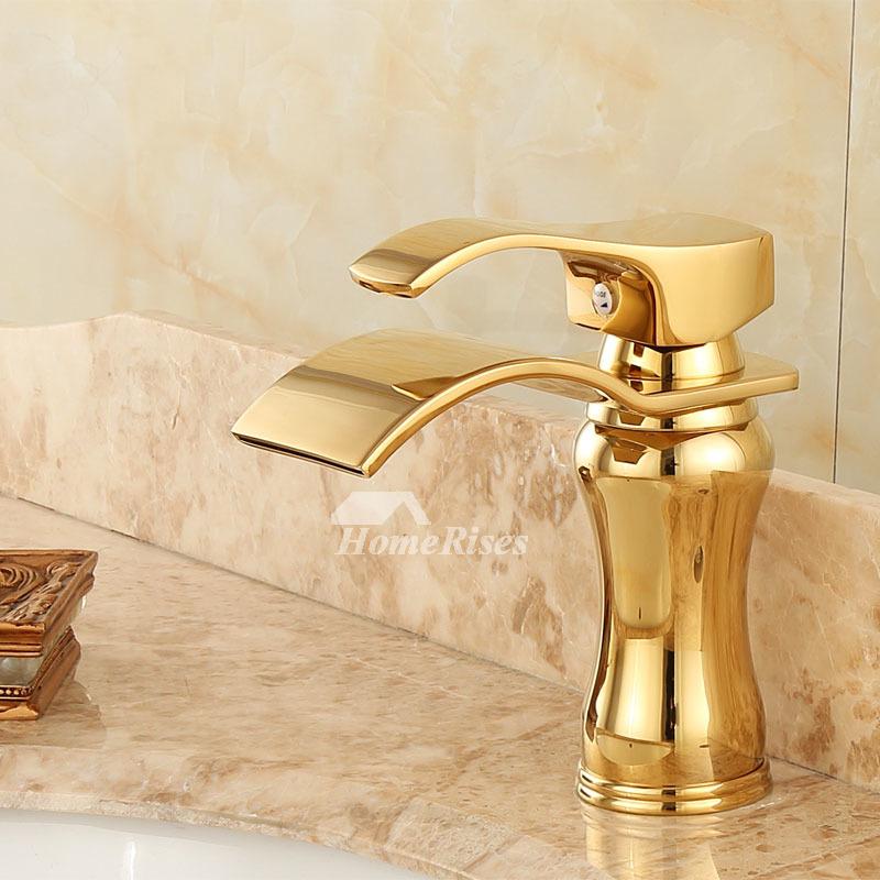 polished brass gold tone bathroom faucets single handle jade best modern vessel sink faucets