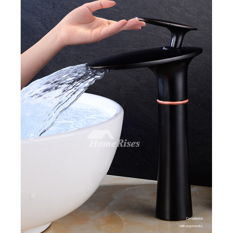 brass tall vessel sink faucets white oil rubbed bronze brushed silver chrome modern black