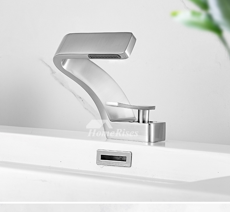 white brushed nickel polished chrome bathroom faucets designer modern soild brass