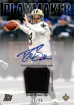 Drew Brees Autograph Jersey Card