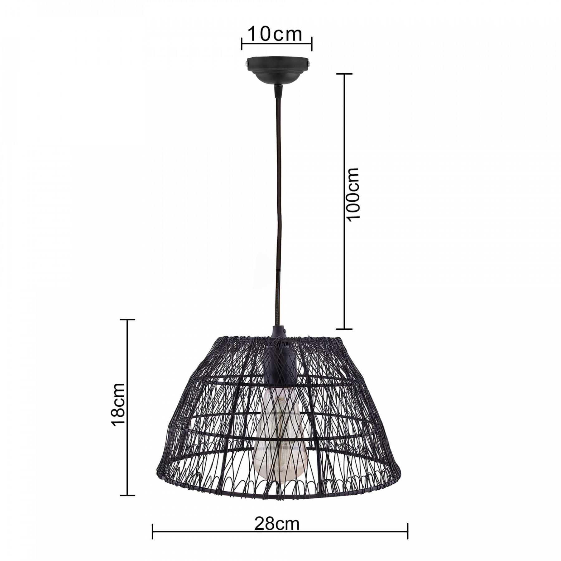 Metal Wire Mesh Lamp Shade Hanging Light Ceiling Pendant