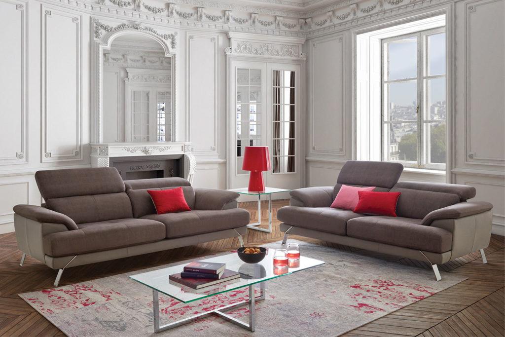 un compromis donc ideal pour les petits salons ou l on favorise plutot les canapes deux places de petite taille