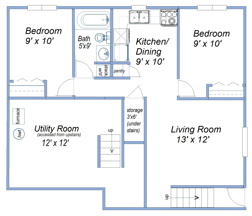 medium resolution of basement suite