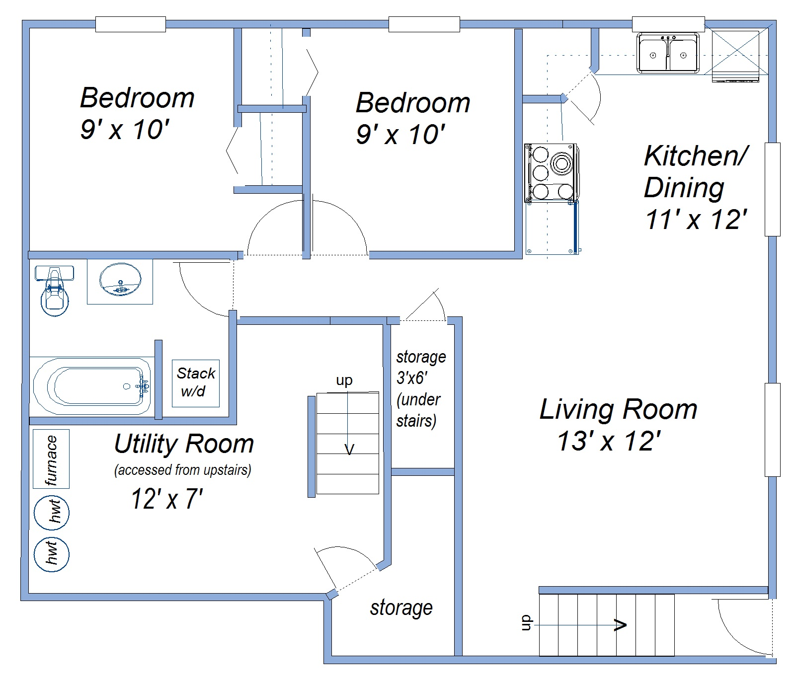 hight resolution of basement suite