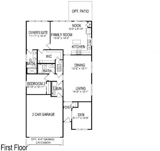 Belmont model in the Edgewater by Del Webb subdivision in