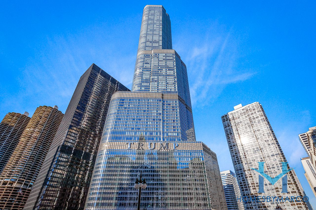 Trump Tower Chicago River North in Chicago Illinois at