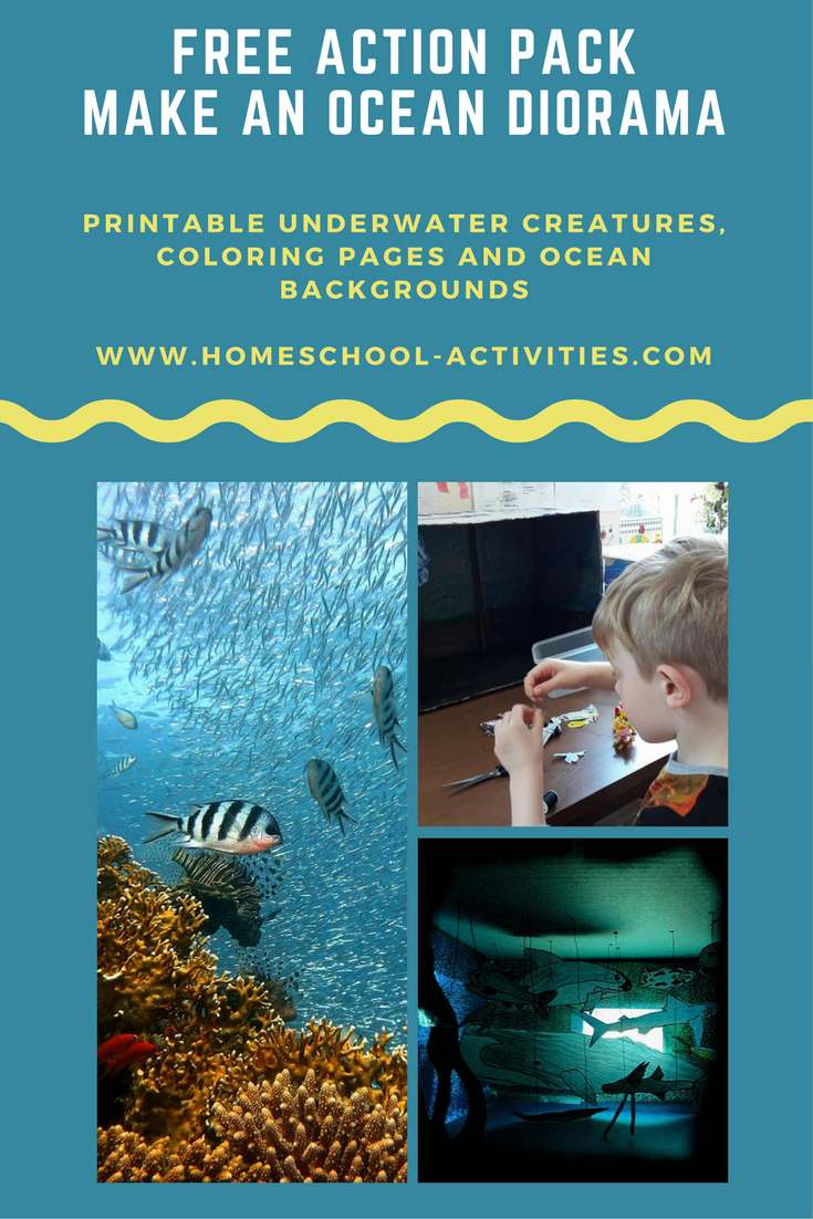 Free Ocean Diorama Action Pack Kids Coloring Pages And
