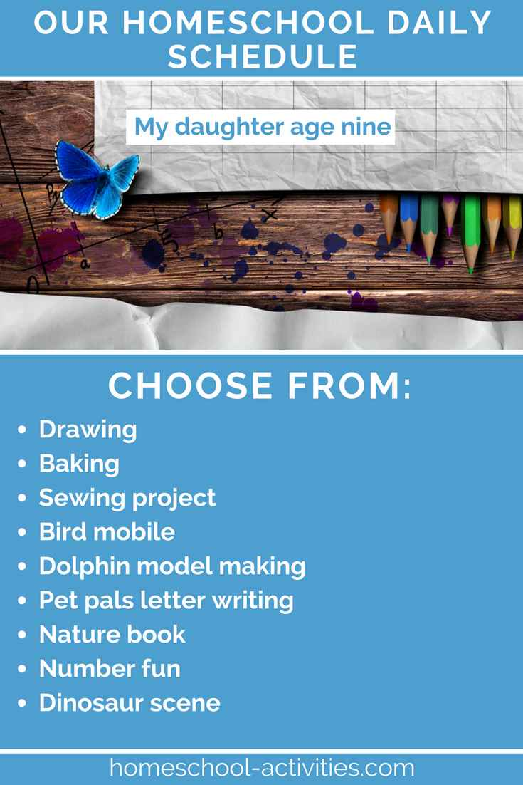 The Homeschool Daily Schedule Planning Your Day