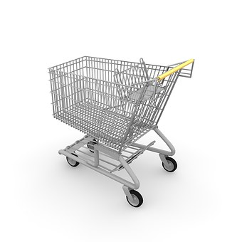 This shopping cart is similar to the mini-carts the children were running with in the store. Read what happened when they came down my aisle.