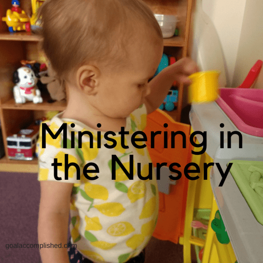 There's ministry opportunities all around. I enjoy being in the nursery of our church to give the moms a break.