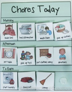 Preschool chore charts with pictures also free subscriber freebie rh homeschoolcreations
