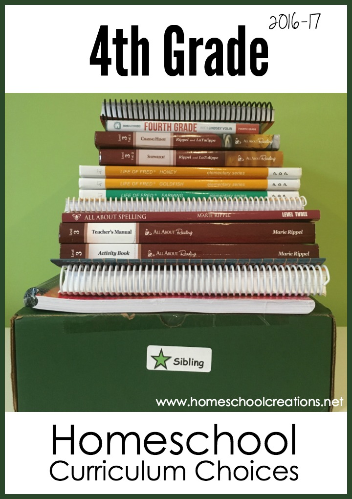Our 4th Grade Homeschool Curriculum Choices