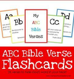 ABC Bible Verse Flashcard Printables ~ Teaching God's Word [ 2014 x 2014 Pixel ]