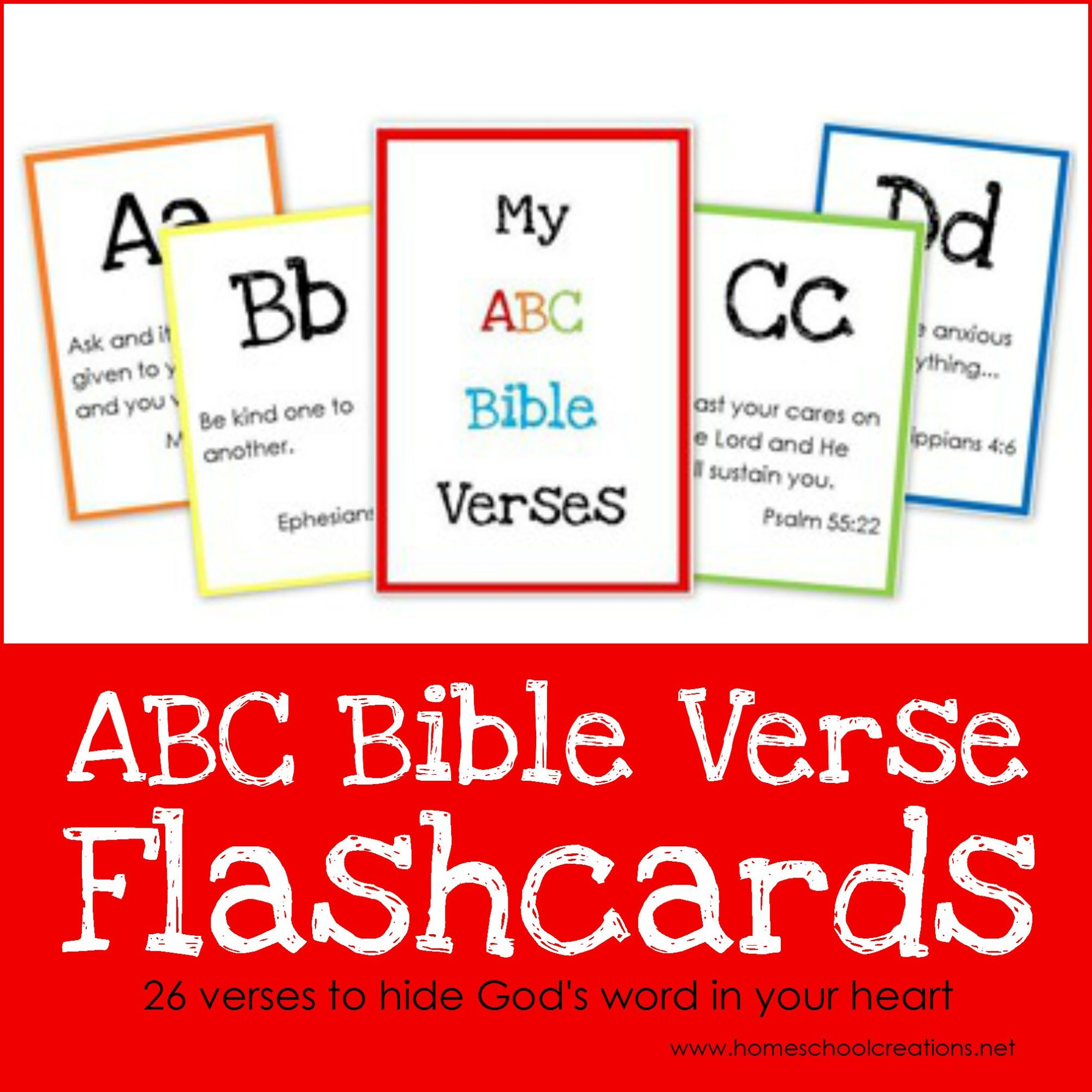 hight resolution of ABC Bible Verse Flashcard Printables ~ Teaching God's Word