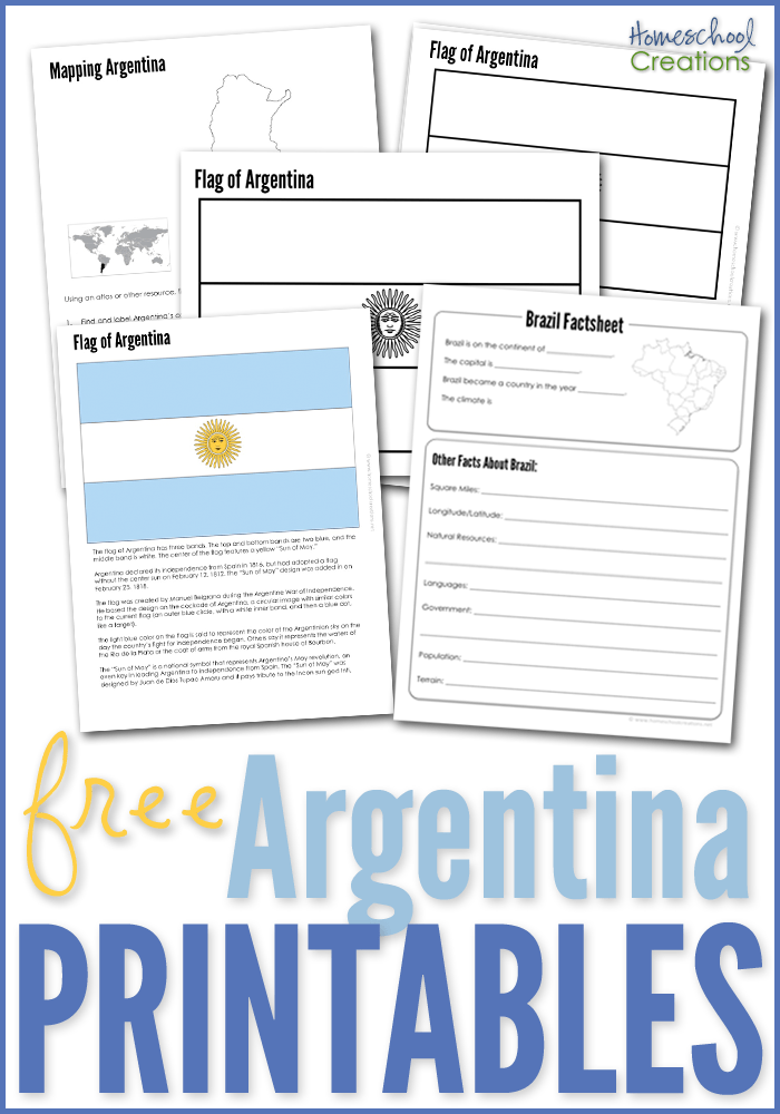 Argentina Geography Printables Free Printable Download