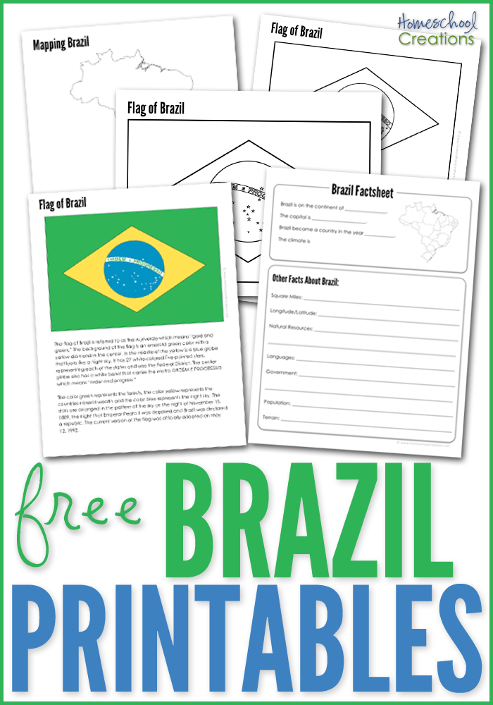 Brazil Geography Printables FREE Printable Download