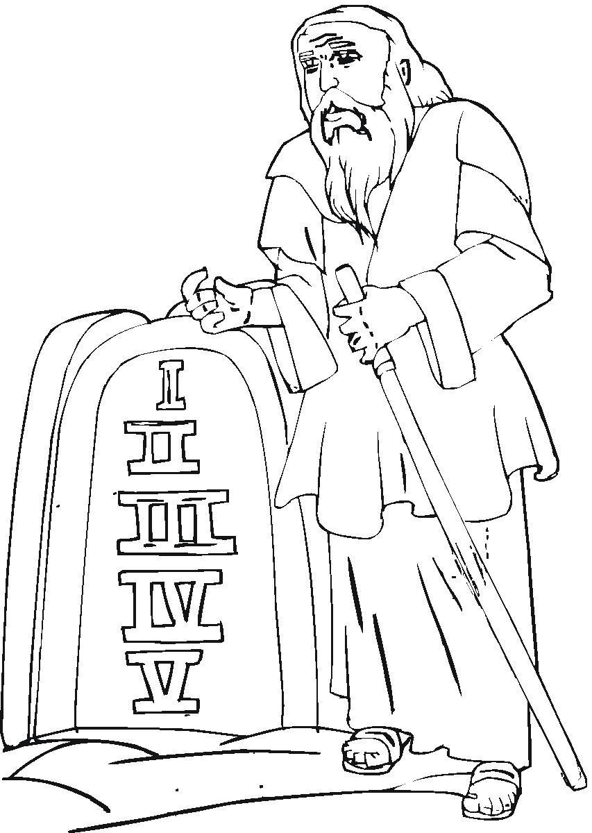 10 Commandments Coloring Pages Children