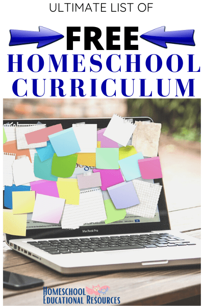 FREE Curriculum List for homeschoolers