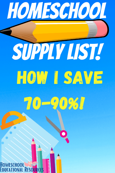 homeschool supplies tricks to saving money