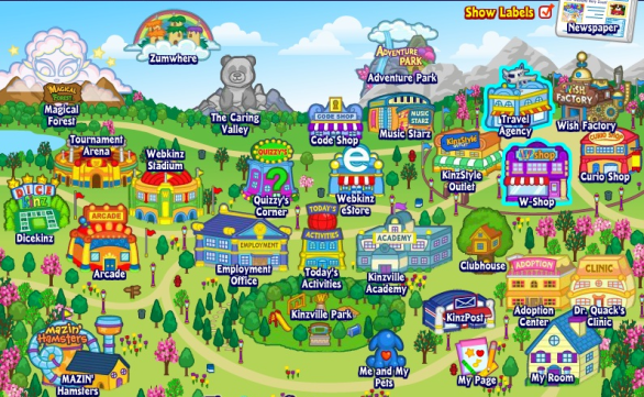webkinz-world-map