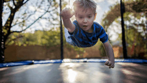 Bouncing on a trampoline has so many health benefits.