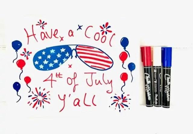 4th of July Chalk Marker