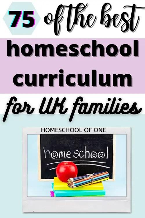 Over 75 of the best UK homeschool curriculum resources