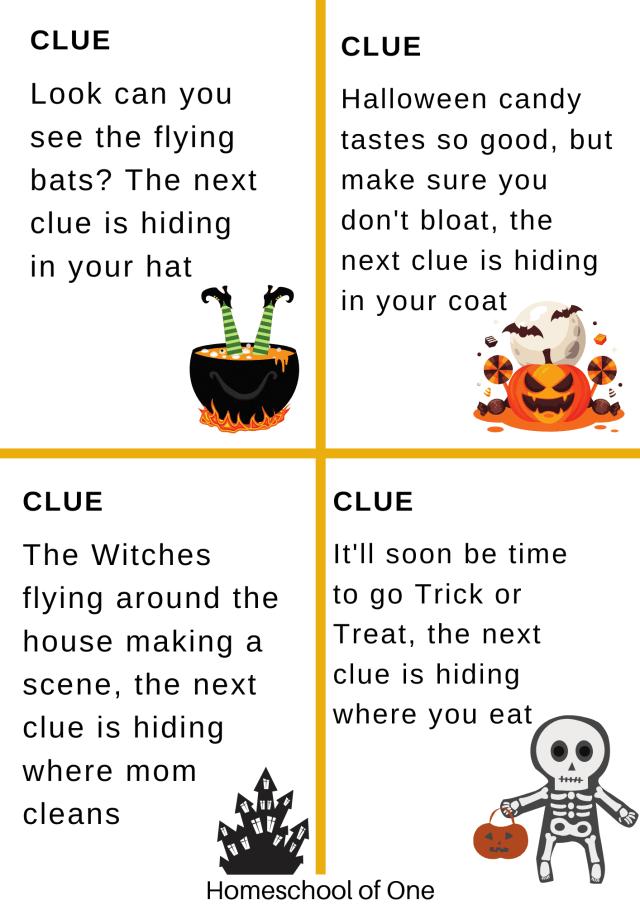 Halloween scavenger hut for kids
