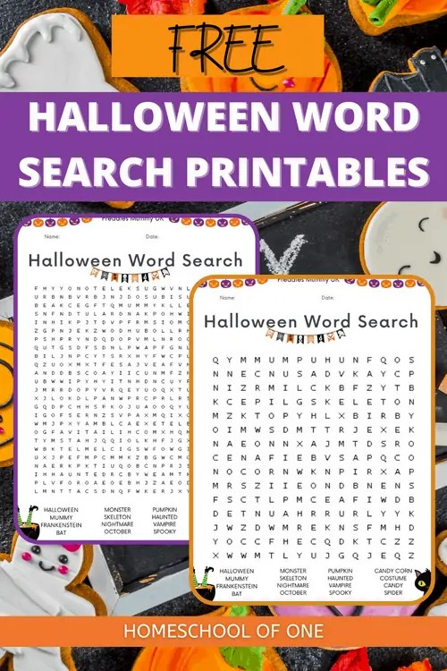 Halloween Word Search Printable for the whole family to enjoy