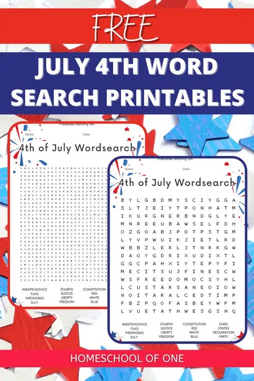 July 4th Word Search Free Printable for the whole family to enjoy