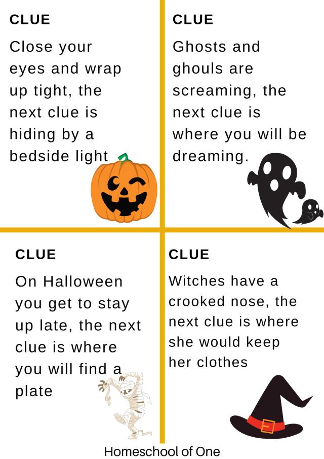scavenger hunt for halloween