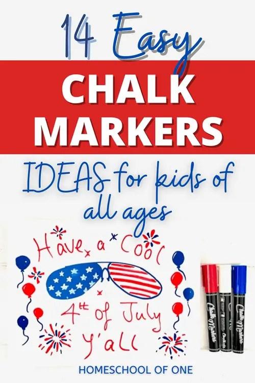 14 easy chalk marker ideas for kids#chalkmarker #chalkola #chalk