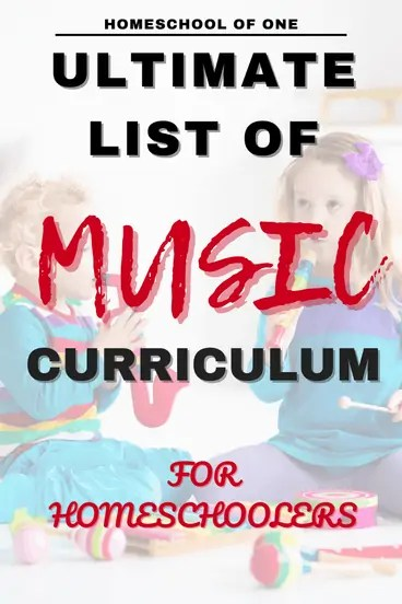 ultimate list of music curriculum for homeschoolers