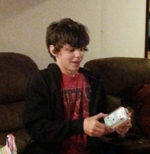 My son getting his first phone!