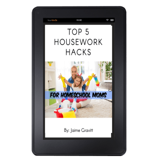 Top 5 Household Hacks for Homeschool Moms - cleaning help